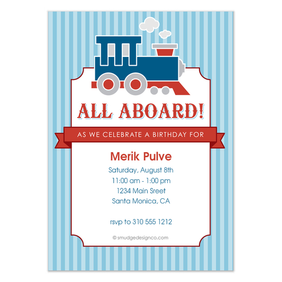 all aboard birthday invitation ; 3990766