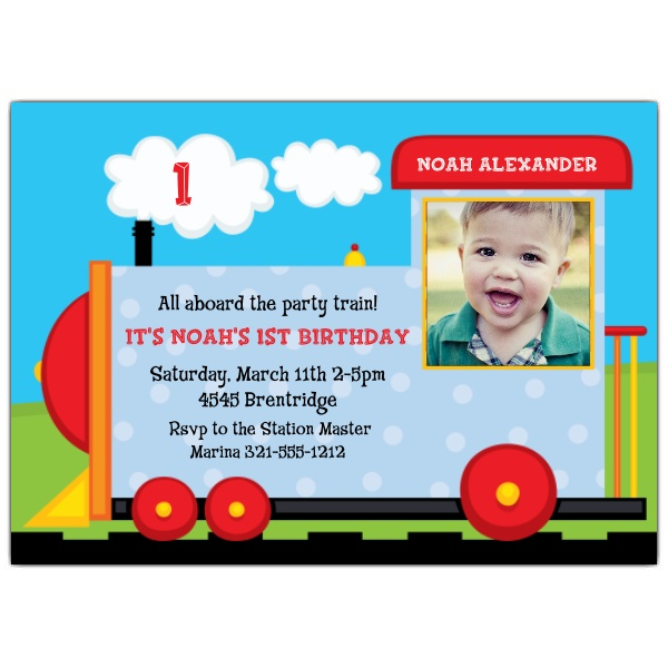 all aboard birthday invitation ; 643-75-PC1244-z