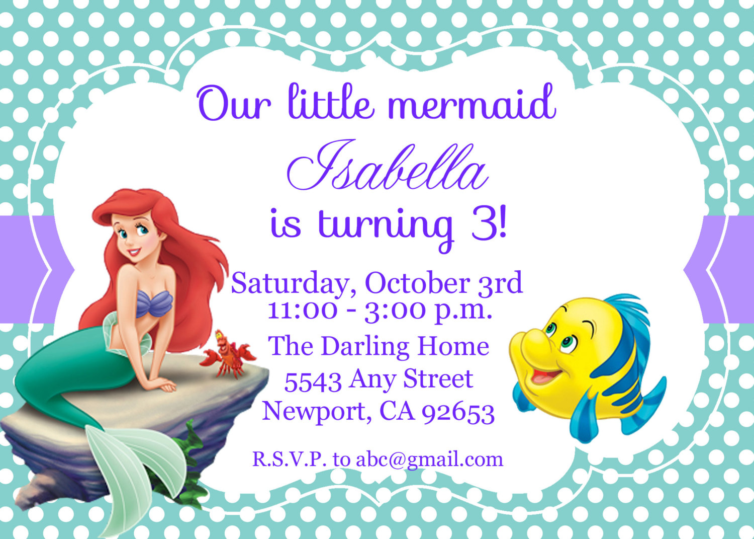 ariel happy birthday card ; Little-mermaid-birthday-invitations-and-get-inspired-to-create-your-own-birthday-invitation-design-with-this-ideas-1