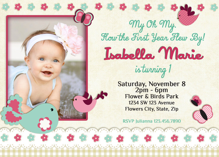 Baby 1st Birthday Invitation Wording Invitations Beautiful 1