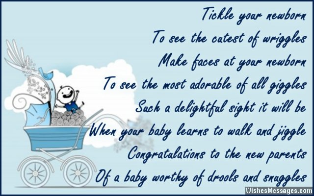 baby boy birthday card messages ; Cute-wishes-for-newborn-to-the-parents