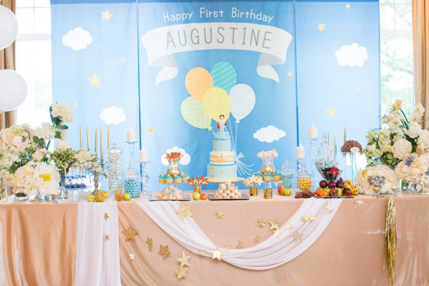 baby first birthday backdrop ; augustine_01