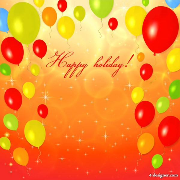 background design for birthday card ; Happy-festive-greeting-card-background-04-vector-material-50240