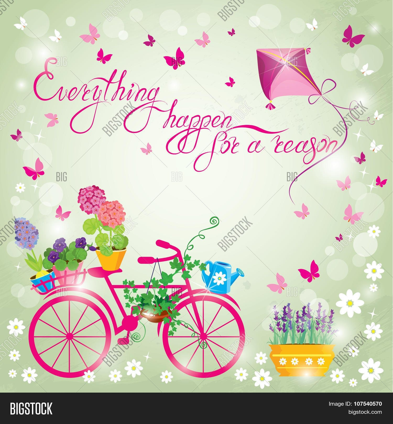 background design for birthday card ; image-flowers-pots-bicycle-on-sky-vector-photo-bigstock-inside-birthday-invitation-card-background-design