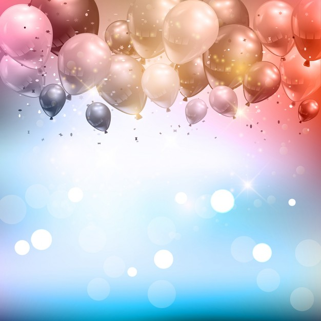 background design for birthday tarpaulin ; celebration-background-of-balloons-and-confetti_1048-2223