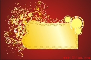 background design for birthday tarpaulin ; red_background_gold_pattern_vector_280304