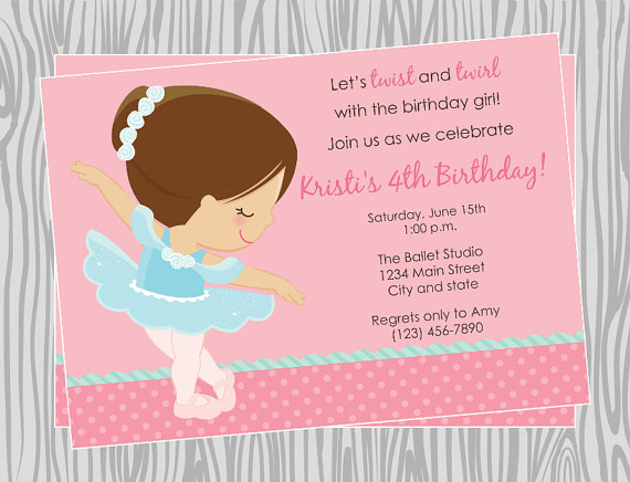 ballerina birthday party invitation wording ; ballerina-birthday-invitations-with-some-beautification-for-your-Birthday-Invitation-Templates-to-serve-fetching-environment-2