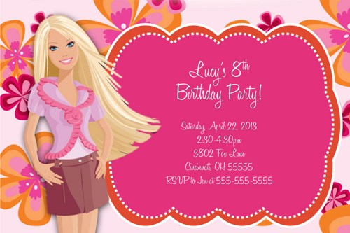 barbie birthday card printable ; barbie-birthday-cards-invitation-card-barbie-design-barbie-clipart-invitation-pencil-and-printable