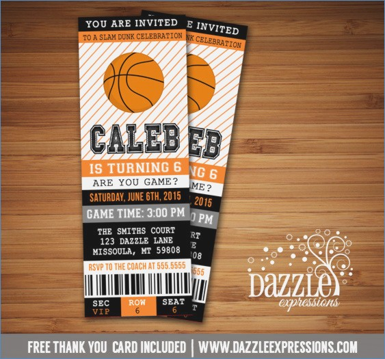 basketball birthday card templates ; printable-basketball-ticket-birthday-invitation-sports-ticket-of-basketball-birthday-card-templates