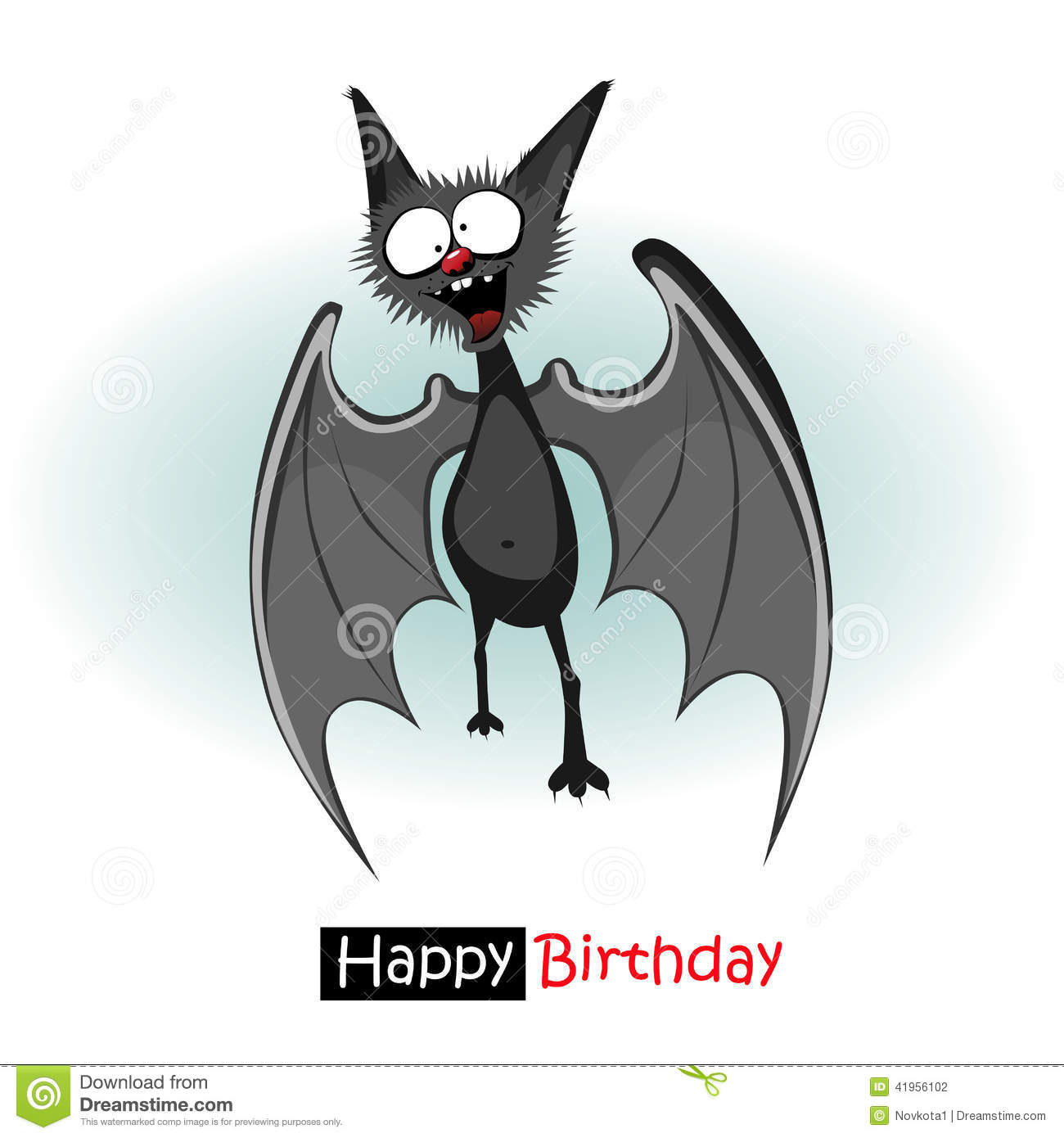bat birthday card ; happy-birthday-bat-smile-card-41956102