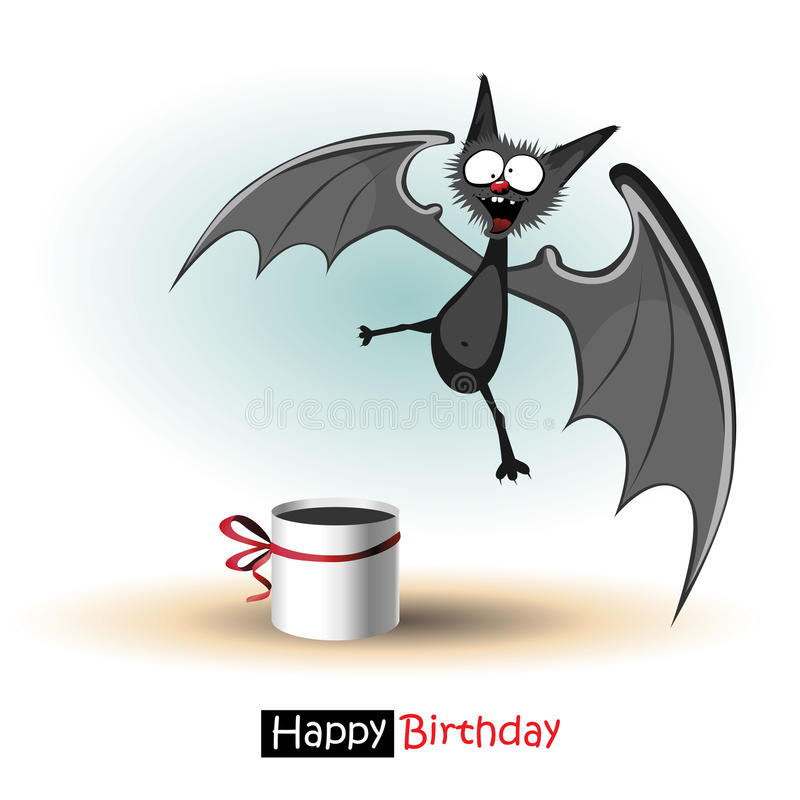 bat birthday card ; happy-birthday-smile-bat-card-gift-41956123