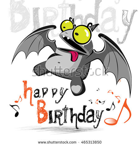 bat birthday card ; stock-vector-happy-birthday-card-bat-monster-465313850