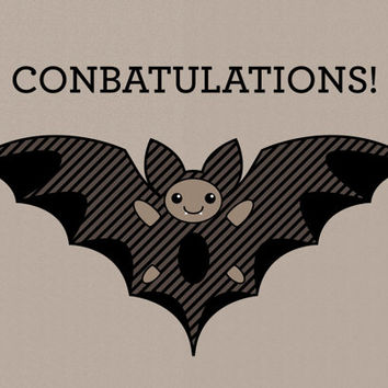 bat birthday card ; x354-q80