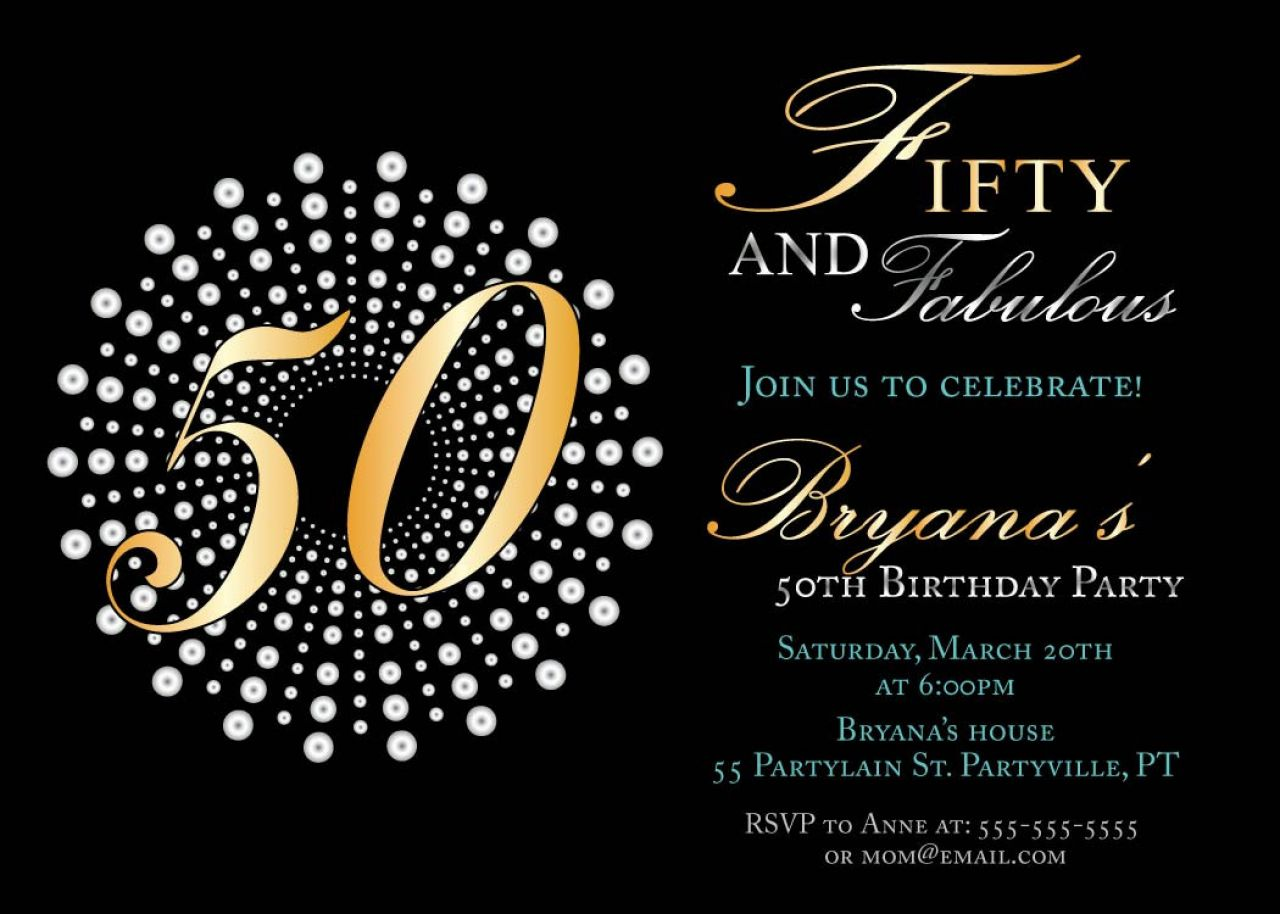 bday templates ; 50th-birthday-invitation-template-combined-with-your-creativity-will-make-this-looks-awesome-1