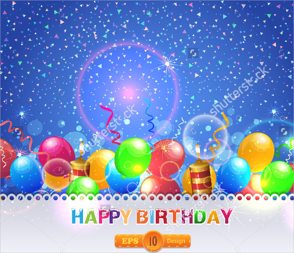 bday templates ; Blank-Birthday-Template-With-Stars