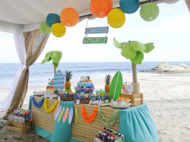 beach birthday party ; Beach-Birthday-Party-Ideas-