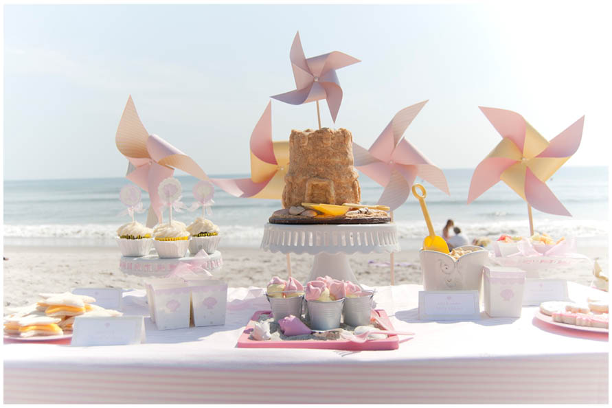beach birthday party ; beach-baby-birthday-photo-shoot-3