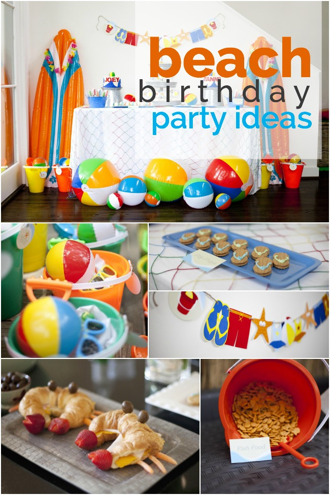 beach birthday party ; beach-birthday-party-ideas