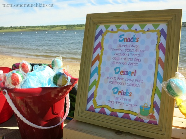 beach birthday party ; beach-party-food-ideas