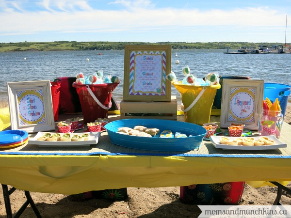 beach birthday party ; beach-party-full