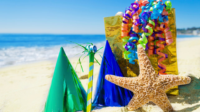 beach birthday party ; beach-party-theme