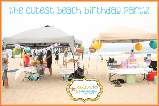 beach birthday party ; beach-party
