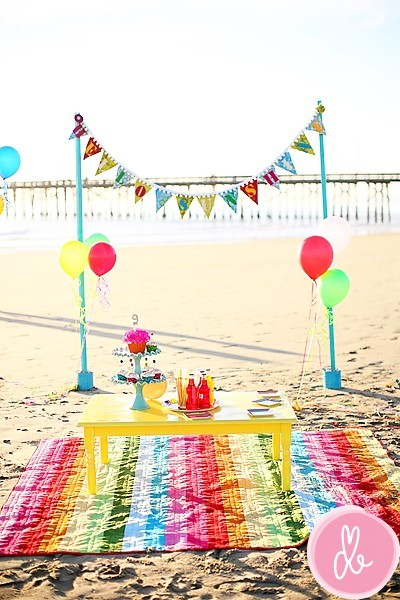 beach birthday party ; cacbb40e307867216295481dede34854