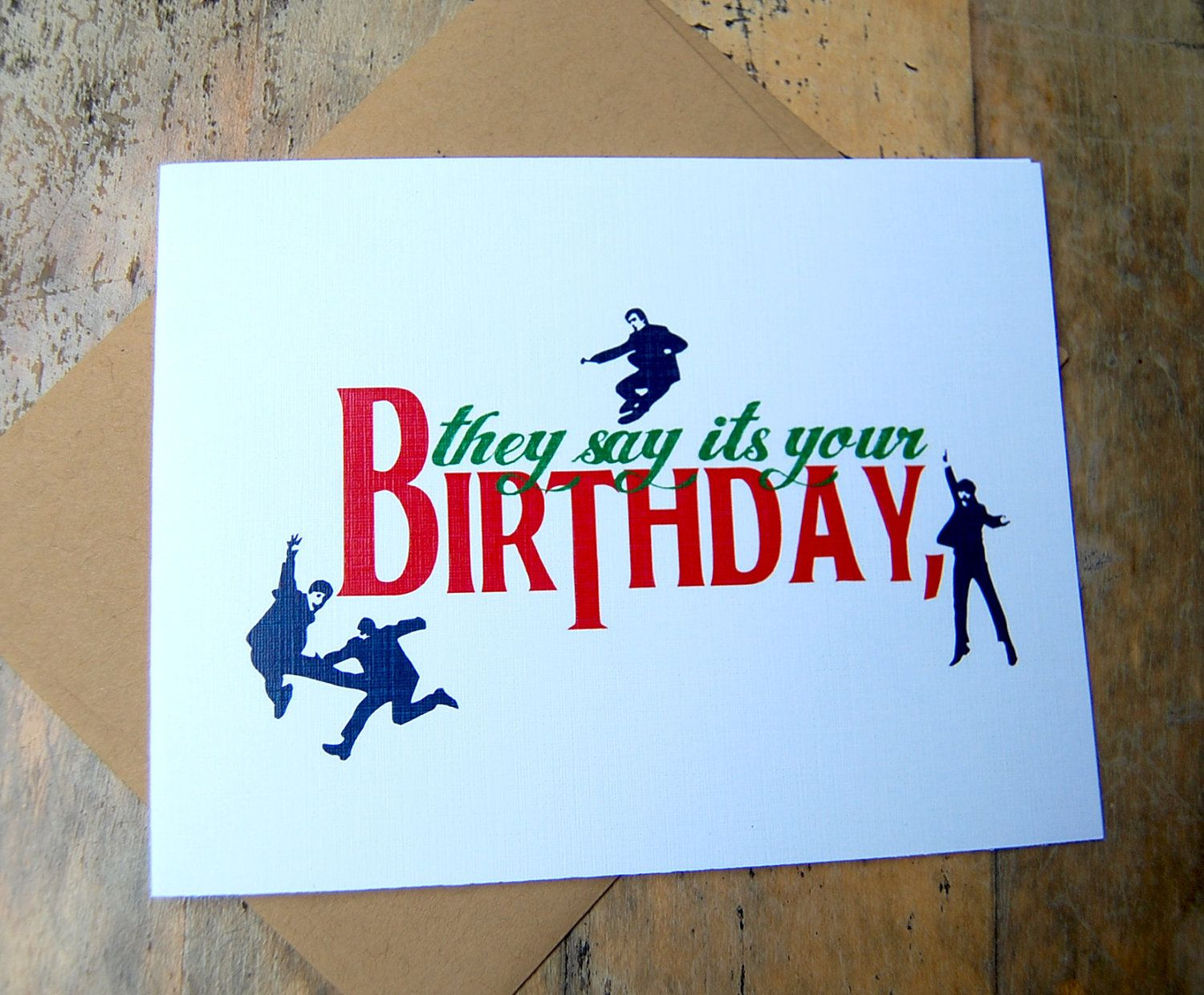 beatles birthday card ; 5d30e21e17410f4bf5ee24f71619ce13