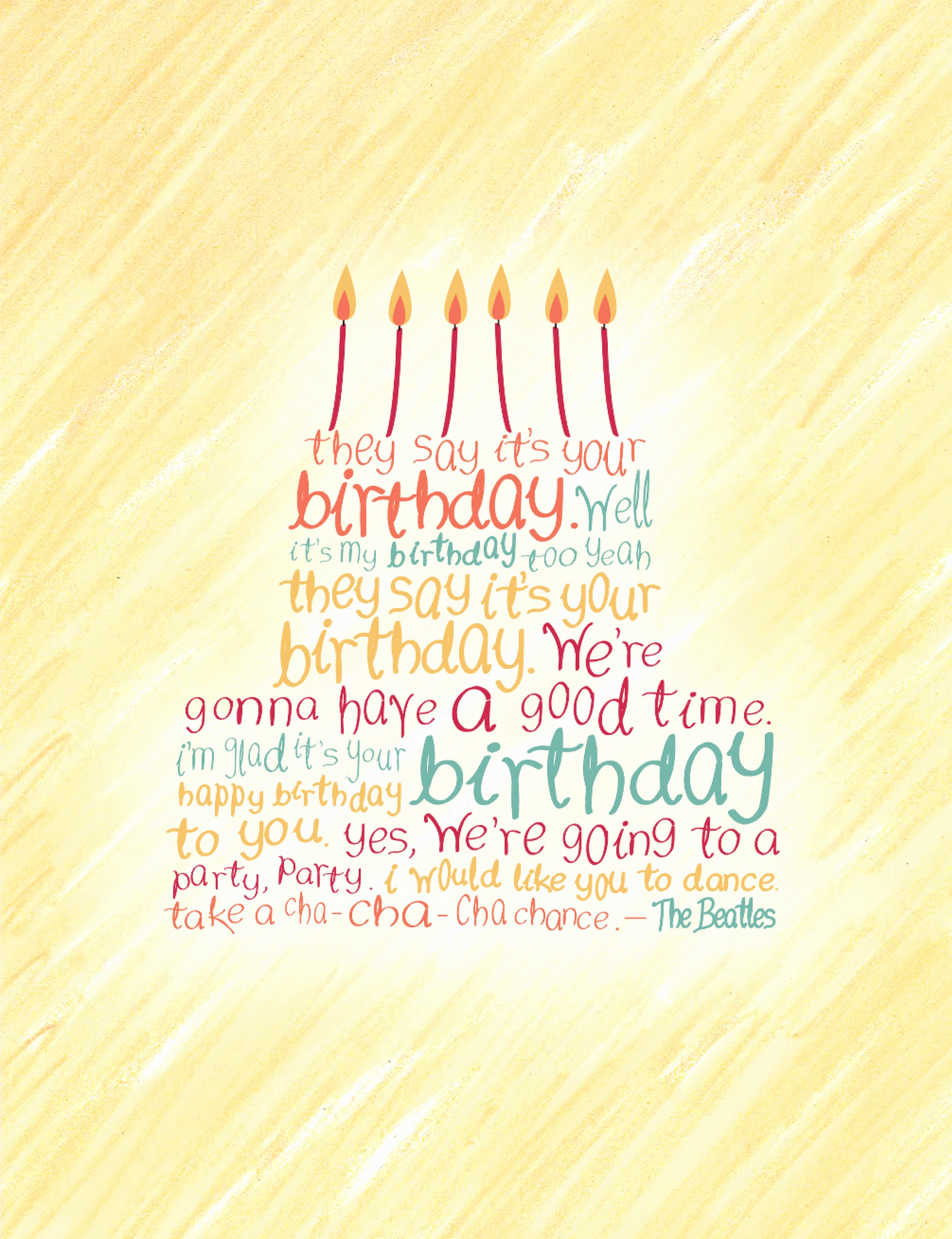 beatles birthday card ; beatles-birthday-card-inspirational-beatles-birthday-card-rachel-huff-of-beatles-birthday-card