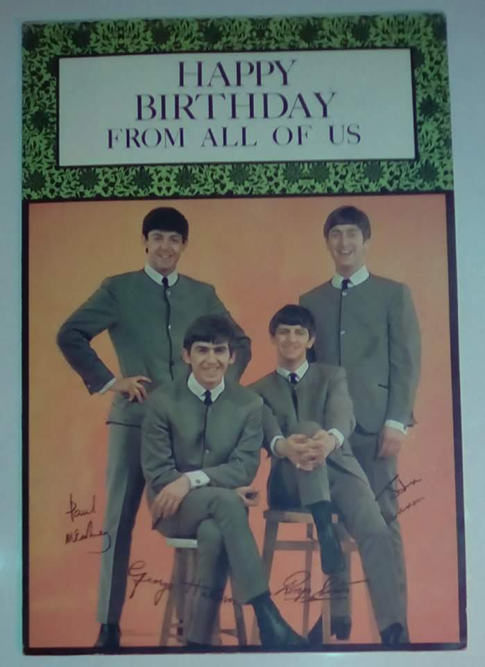 beatles birthday card ; received_10154652413224147