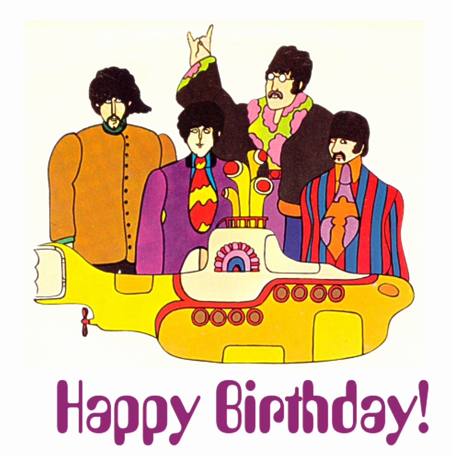 beatles birthday card ; rock-and-roll-birthday-cards-free-awesome-the-beatles-yellow-submarine-birthday-card-what-the-rock-of-rock-and-roll-birthday-cards-free