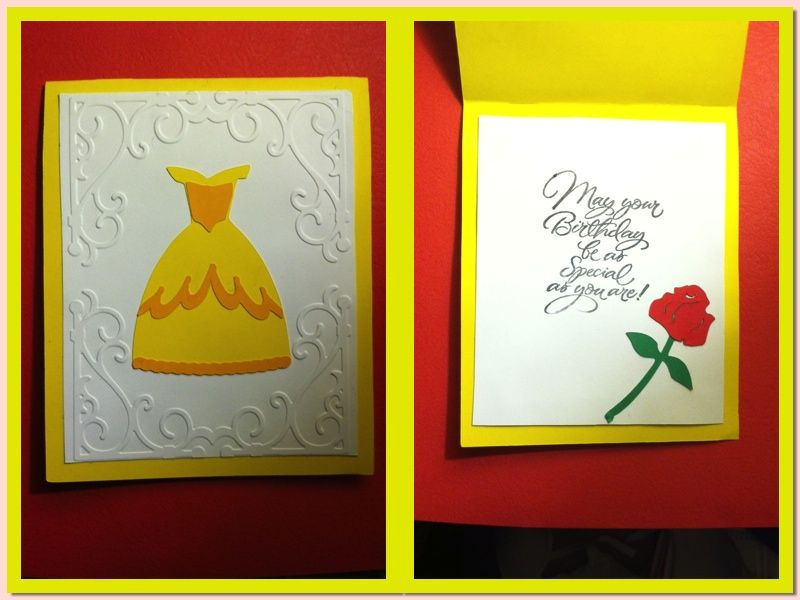 beauty and the beast birthday card ; 0d1dace350ea555a96201e693dd70525
