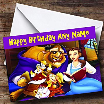 beauty and the beast birthday card ; 81G0WPQh6YL