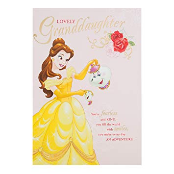 beauty and the beast birthday card ; 81gSCyw2U-L