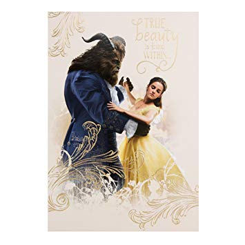 beauty and the beast birthday card ; 912iIEV7MxL