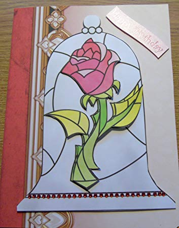 beauty and the beast birthday card ; 91u3z6E-g0L