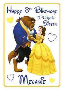 beauty and the beast birthday card ; s-l300