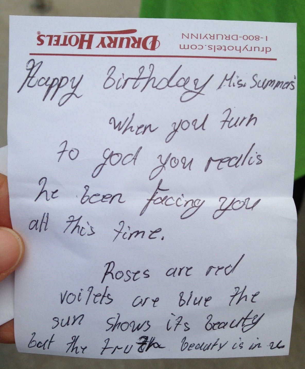 best birthday note ; a-birthday-note-ms-summers-birthday-note
