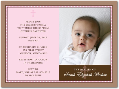 birthday and baptism invitation template ; Sample-Of-Baptismal-In-Vintage-Christening-Invitation-Card-Template