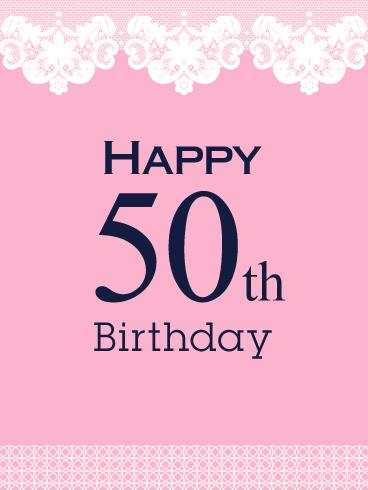 Birthday And Greeting Cards By Davia 50 Happy 50th