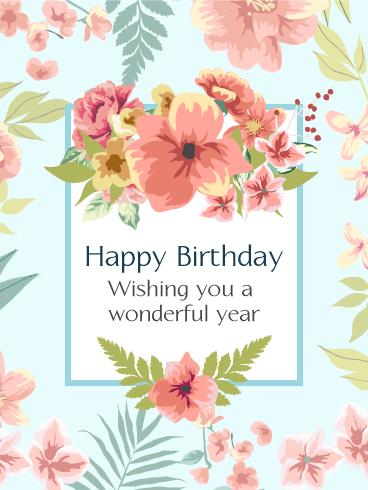 birthday and greeting cards by davia ; flowers-greeting-cards-pink-birthday-flower-card-birthday-greeting-cards-davia-download