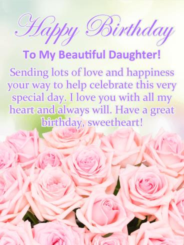 birthday and greeting cards by davia ; happy-birthday-card-for-daughter-birthday-cards-for-daughter-birthday-greeting-cards-davia-free