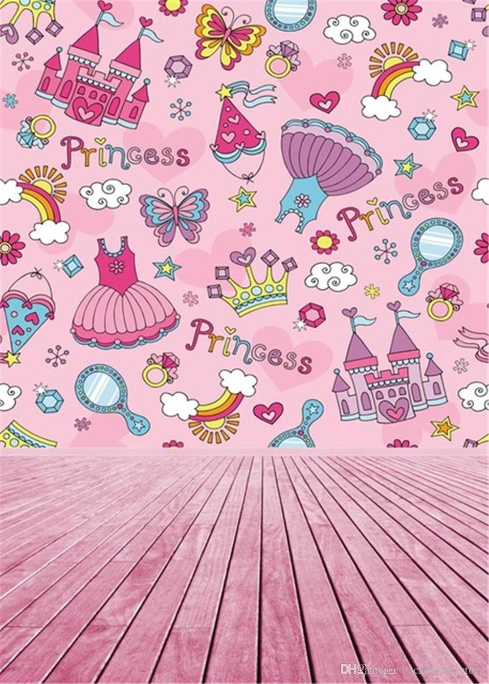 birthday background for baby girl ; 5x7ft-baby-girl-princess-photography-background