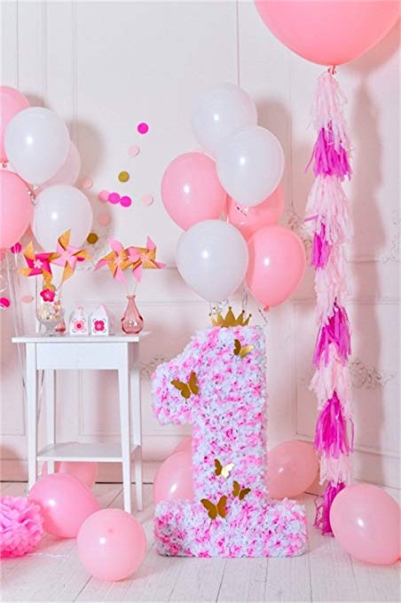 birthday background for baby girl ; 61oxZ16am0L