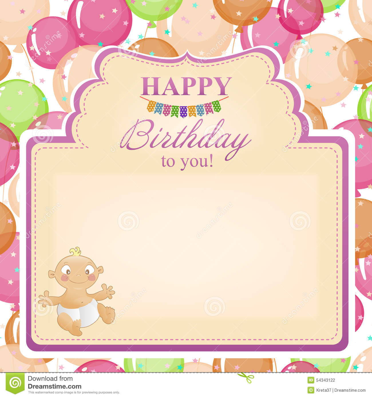 birthday background for baby girl ; childrens-congratulatory-background-birthday-girls-postcard-greetings-balloons-little-girl-54343122