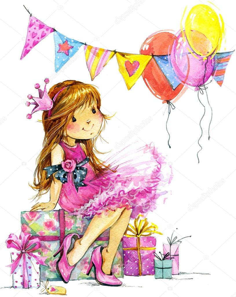 birthday background for baby girl ; depositphotos_71701389-stock-photo-baby-girl-and-birthday-background