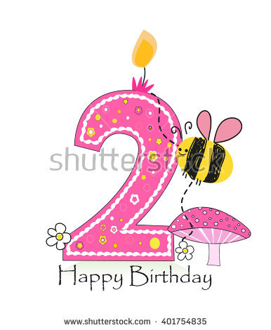 birthday background for baby girl ; stock-vector--happy-second-birthday-candle-baby-girl-greeting-card-with-bee-and-daisy-vector-background-401754835