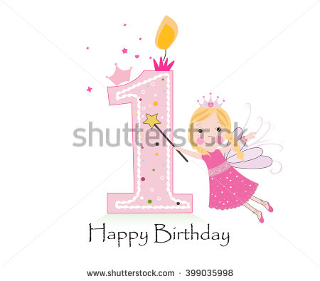 birthday background for baby girl ; stock-vector-happy-first-birthday-candle-baby-girl-greeting-card-with-fairy-tale-vector-background-399035998