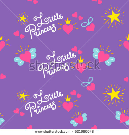 birthday background for baby girl ; stock-vector-little-princess-pattern-vector-sweet-girl-background-for-template-birthday-card-baby-shower-521980048