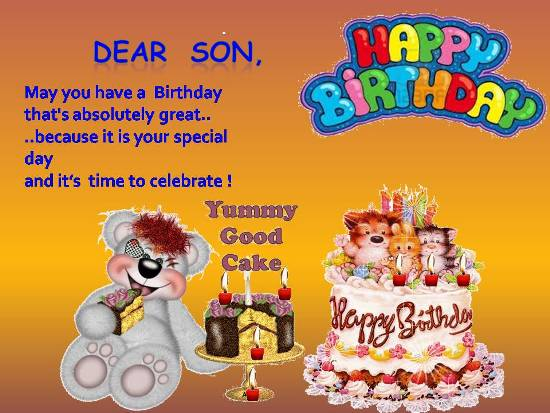 birthday blessing message for son ; 311171